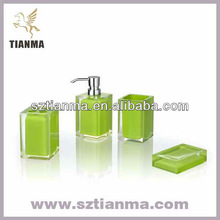Resin Hotel Bathroom Set Green Sanitary Ware Factory