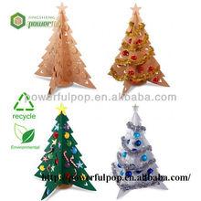 promotion 4c printing christmas shinning cardboard tree display stand