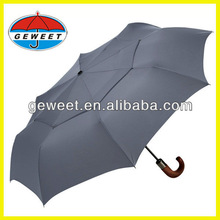 double layers air vents windproof full auto open&close 3 folding rain umbrella