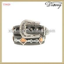 personalizado tt8629 occidental cinturón de diamantes de imitación para los hombres