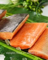 Frozen Wild Pink/Chum Salmon Fish Fillets/Portion