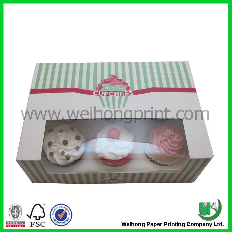 caixas personalizadas cupcake atacado na china