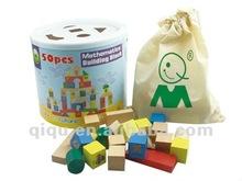 50 pcs Mathematics Building Block Wooden Educational Blocks for Kids
