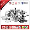 16Pcs Luxurious Stainless Steel Kitchen Pot