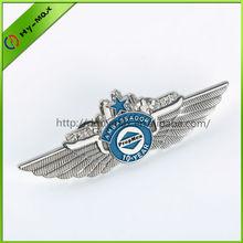 custom metal wing badge pin
