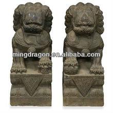 Chinese antique garden stone lion