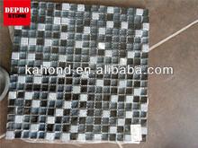 crackle trend glass mosaic ornament