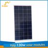 Poly 130W competitive price per watt photovoltaic solar panel kit