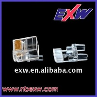 Cat6 modular plug for flat cable UTP