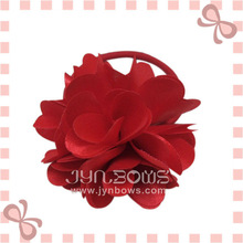 3/4/5 inch fabric flowers/bow with rubber band hair accessories