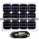 small size 30W18v mono panels solar kit for 12v LED street flash light, laptop, mobile phone