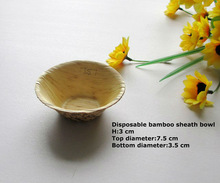 Disposable bamboo leave leaf bowl