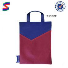 Non Woven Fashionable Grocery Shopping Bags Gold Lamination Non Woven Bag