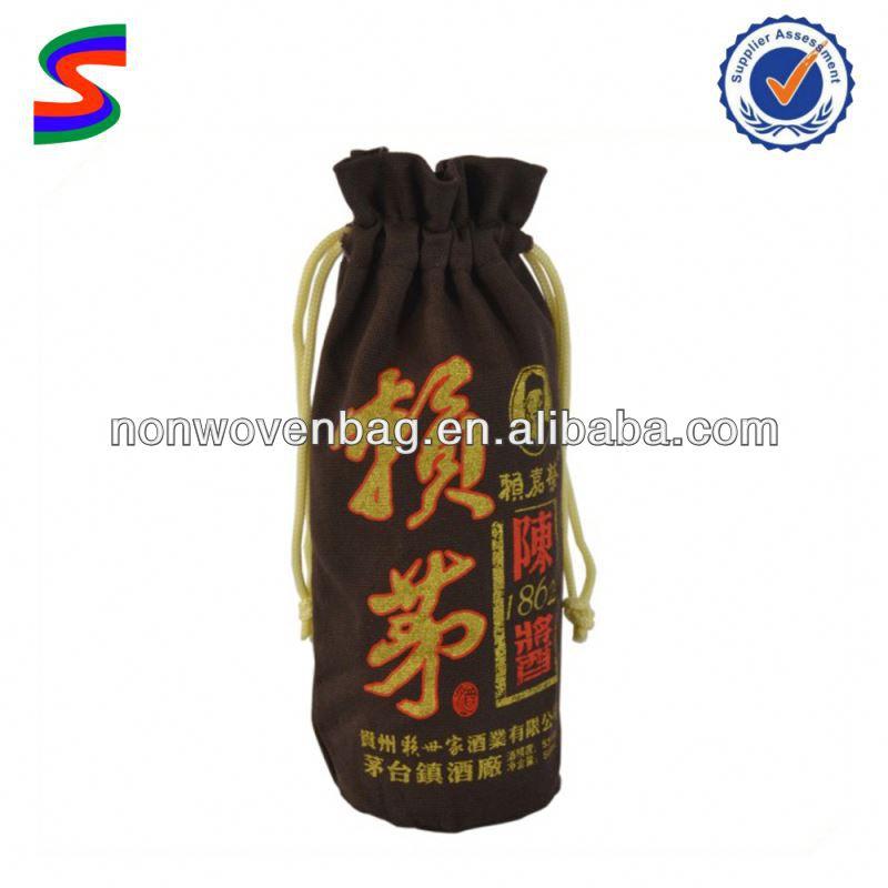 Jute Wine Bag Leather Wine Bags