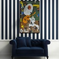 جدار غرفة المعيشة البلاط اليدوية jy-jh-ad04 شنقا الرسم على الزجاج فسيفساء صورة لوحات تجريدية بابلو بيكاسو