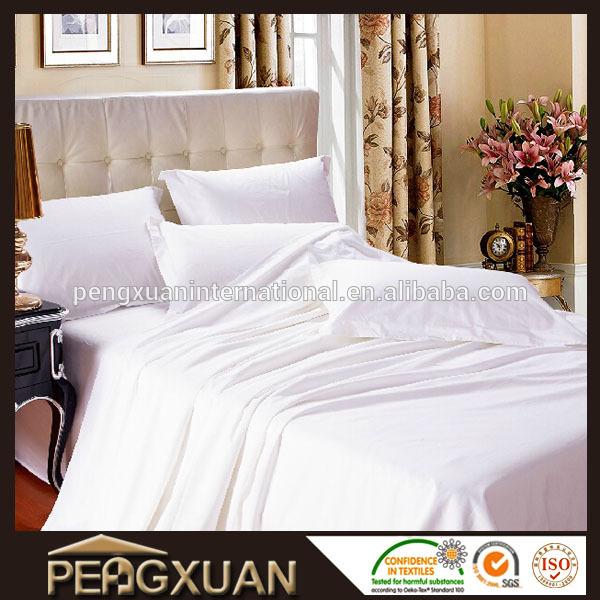 고급 무명천 호텔 린넨 새로운 흰색 퀸 사이즈 90x110 평면 침대 ...