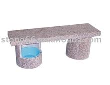 Pink Granite Square Bench