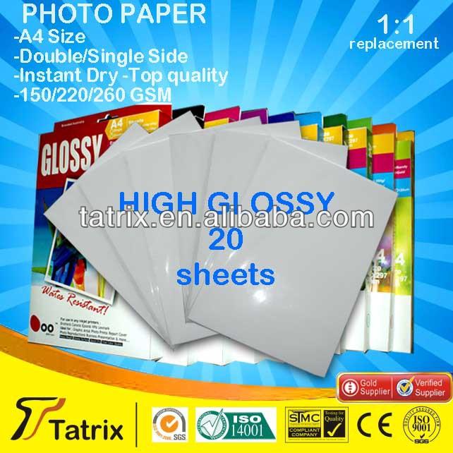 Glossy Semi-Glossy Matte and Quality Inkjet Photo Paper