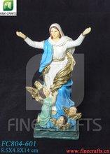 Polyresin Maria religious figurine