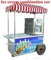 Chariots pour la vente de crème glacée, congelés de fruits boire en été