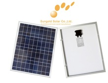 50W18V aluminium frame poly pv solar panel with cables for 12v battery