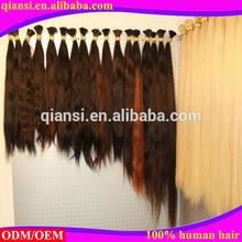2015 good quality wholesale 100% remy human hair bulk ,curly bulk