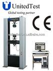 100N ~ 1000KN electron steel universal testing machine/ rubber tensile testing machine