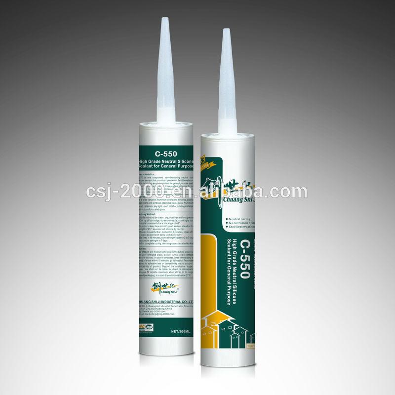 general purpose neutral silicone sealant 550