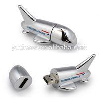 Free sample low price wholesale metal airplane usb flash drive