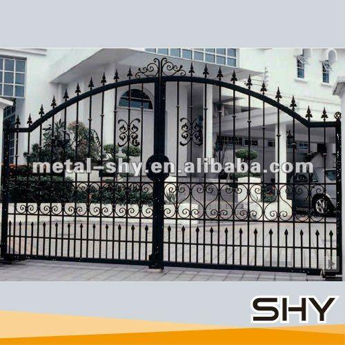 Puerta de hierro forjado para el jard n vallas enrejados - Puertas de hierro para jardin ...