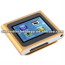 1.8 inch mini touch screen mp4 player with clip