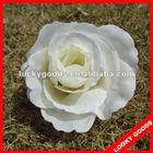 high quality big white silk artificial rose head,silk rose flower head
