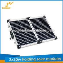 photovoltaic RV solar panel kit flexible folding 40w
