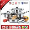 8Pcs Hot Sale SS Induction Metal Cookware Pot