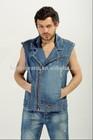 2014 wholesale used short jeans pants , light blue wash men jeans shorts (HY100#)