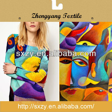 New Design Printed Jersey 100 Polyester Knit Fabric
