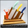 kitchen ceramic knife ,ceracmi knife set with bamboo holder and bamboo cutting board