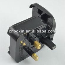 Hot selling alibaba saudi arabia electric plug, EU to UK converter plug adapter with FUSE 13A
