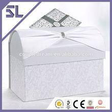 Ribbon Bow & Diamante Western Wedding Card Box