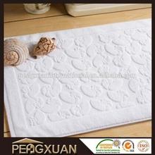 Acrylic white good quality foot shape bath mat