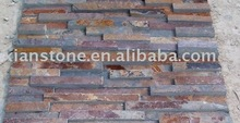 Rusty slate ledger stone panel