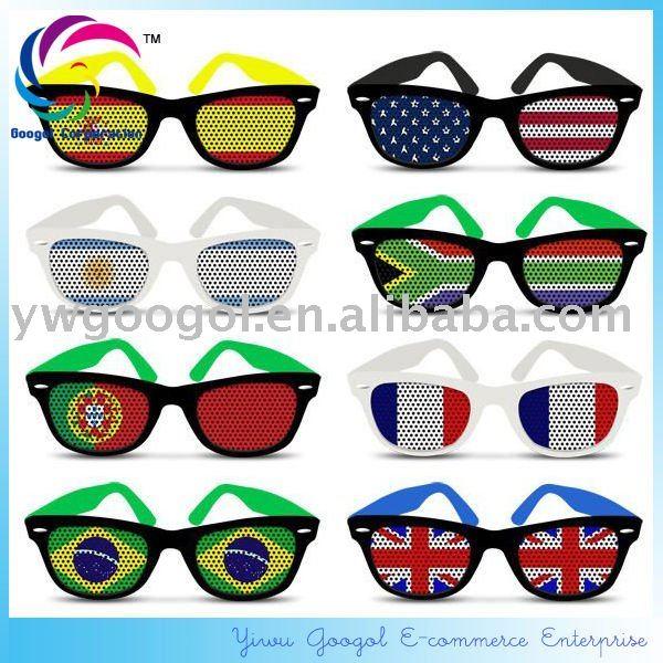 2012 lunettes de soleil chaudes de drapeau national de vente/lunettes de soleil de ventilateur