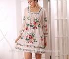 Ladies Leisure cotton embroider dress, casual girls cotton masakali dress