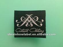 Large customerized elegant logo main woven apparel labels