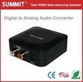Cable digital óptico coaxial a analógico rca de audio de la señal adaptador convertidor de rca l/r