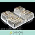 de color oro de pvc rígido hoja de plástico pet para chocolated bandeja