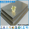 Shandong Factory Silver Brushed alucobonds / ACP / aluminum wall cladding / brushed aluminum composite panel