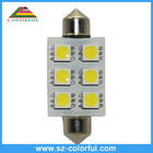 6pcs 5050smd Festoon auto led