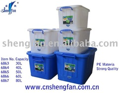 plastic storage box of 30L-130L PE
