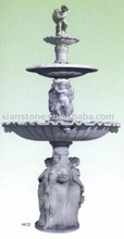Large White hand carved marble statue water fountains